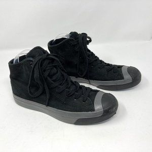 Converse Jack Purcell Black High Top Sneakers